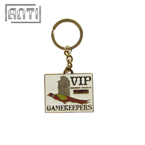 Durable Rectangle Shaped Keyring Personalized Metal Keychains VIP Member Number