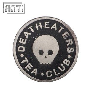High Quality Skull Enamel Badge Lapel Pins Club Badge Logo Pins