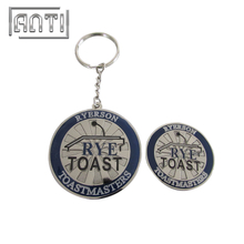 Durable Coin Shaped Keyring Personalized Metal Keychains