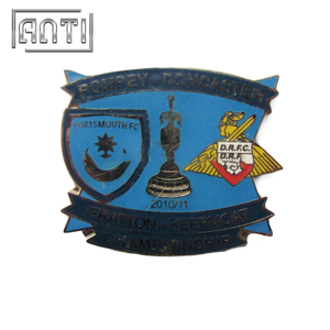 blue various shapes hard enamel metal badge