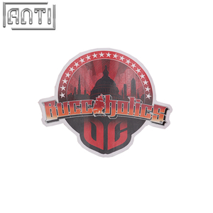 PVC texture cool red and black cartoon stickers