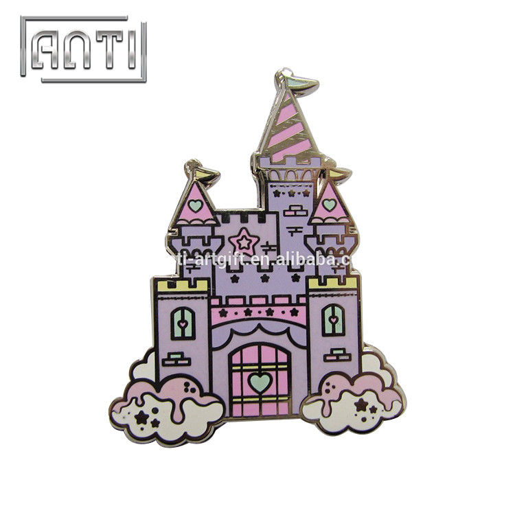 Mew castle zinc alloy hard enamel metal pins