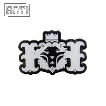 black and white lion hard enamel metal badge