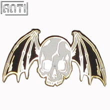 Wholesale manufacturer black and white Halloween cool pattern hard enamel zinc alloy lapel pin