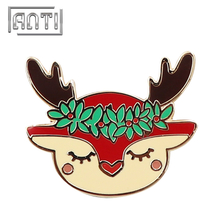 Christmas Reindeer Soft Enamel Badges, Christams Accessory