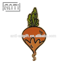cute carrot zinc alloy hard enamel badge