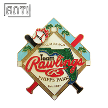 Custom Baseball Logo Lapel Pin Badge Phipps Park